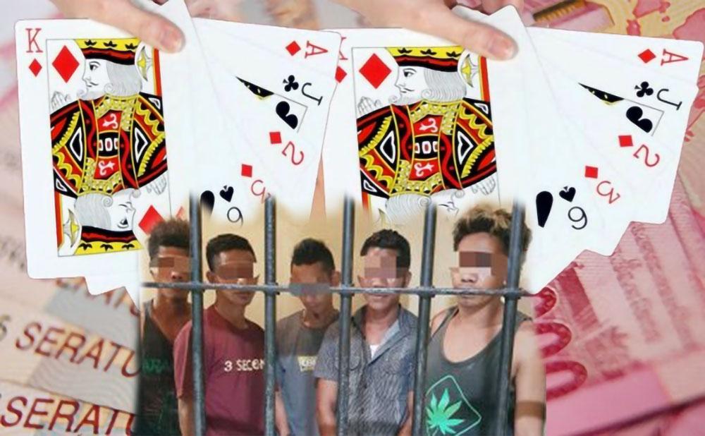 5 Pemuda Sumba Ditangkap Saat Bermain Judi Poker